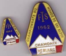 LOTS DE 2 Insigne Montagne Ski CHAMPIONNATS DU MONDE ALPIN 1962 - Andere