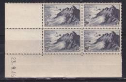 FRANCE N° 764 20F BLEU NOIR POINTE DU RAZ COIN DATE DU 23.9.1946 NEUF SANS CHARNIERE - Dated Corners