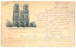 """Notre Dame De Paris Publicité """"familles Cyclistes"""" Et """"cubes Maggi"""" MAGGI 37, Bd Bourdon Voyagée 1899 - Notre Dame Von Paris"""