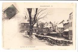 MONTBELIARD LE PONT DE LA ROUCHOTTE 1902 COIN BAS GAUCHE UN PEU ABIMER - Montbéliard