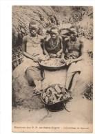 C  P  A ------ GUINEE-FRANCAISE  Missions Des P-P Du St Esprit  -l´épluchage De Légumes - Guinée Française