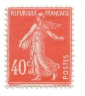 SEMEUSE N° 194. 40 C. Vermillon1926. 194c - France
