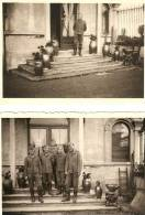 WW2 PHOTO ORIGINALE X2 SOLDAT ALLEMAND LW Devant Leur Cantonnement à LINSELLES Près Tourcoing Lille NORD 59 - 1939-45