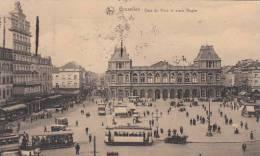 Bruxelles - Gare Du Nord Et Place Rogier (top Animation, Tramway, Automobile) - Bruxelles-ville