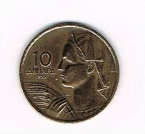 JOEGOSLAVIE  10  DINARA  1955 - Yougoslavie