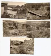 Guerre D´Algérie Environs De Saint-Antoine, Gastonville, Pont écroulé, Militaires, 1958 , Lot De 5 Photos ; Ref 598 - Guerre, Militaire