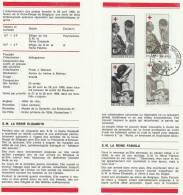 DEPLIANT CROIX ROUGE DE BELGIQUE 1968 / N°1454/55 (°) Cachet Bruxelles - Red Cross