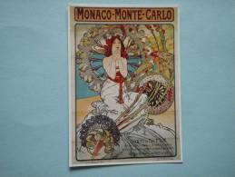 24708 PC: MONACO: MONTE CARLO: Deutsches Plakatmuseum Esses - Alfons Maria Mucha: Monaco - 1879. - Zonder Classificatie