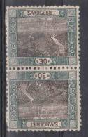Saar: Mi 57 Kehrdruckpaar MH/* - 1920-35 Saargebiet – Abstimmungsgebiet