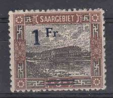 Saar: Mi 80 Aa II MH/* - 1920-35 Saargebiet – Abstimmungsgebiet