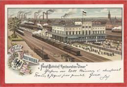 Allemagne - GRUSS Aus DORTMUND - Haupt Bahnhof - Gare - Restauratin ULMER - Litho - Dortmund