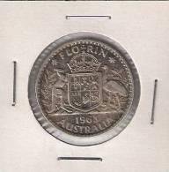 B7  Australia Florin 1963. Ag Silver - Monnaie Pré-décimale (1910-1965)