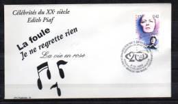 FDC, Personnalités Du 20e Siècle Edith Piaf, 2871   Chanson Française - Música