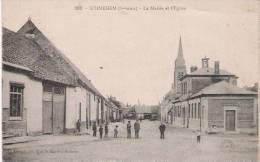 ETINEHEM (SOMME) 303 LA MAIRIE ET L'EGLISE (PETITE ANIMATION) 1916 - France