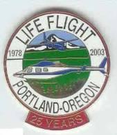 @@ Hélicoptère Avion Secours Médical Life Flight Portland Oregon 1978-2003 25 Years USA- (3.10x2.8) NEUF @@hel01 - Airplanes
