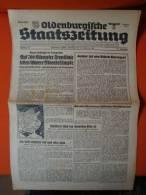 Oldenburgische Staatszeitung, 21.2.1943, Auf 70ß0 Kilometer Frontkämpe Toben Schwere Abwehrkämpfe ! - Riviste & Giornali