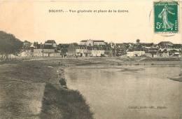 712292 DIGOIN VUE GENERALE ET PLACE DE LA GREVE - Digoin
