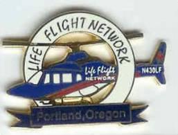 @@ Hélicoptère Secours Médical Life Flight Net Work N430LF Portland-Oregon USA (3x2.10) NEUF @@hel03 - Airplanes