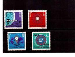 XX3528   -   ROMANIA   -  USED COMPLETE SET  Y.T.  Nr.  2341/2344 - 1948-.... Repubbliche
