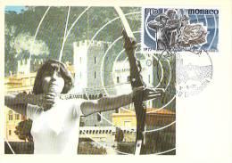 MONACO CARTE MAXIMUM  NUM.YVERT  1095 SPORT TIR A L'ARC - Maximumkarten (MC)