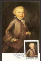 Yugoslavia, 1991, 200th Anniversary Of Death Wolfgang Amadeus Mozart, Carte Maximum (CM) - Célébrités
