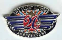 @@ Hélicoptère Secours Médical Life Flight Network 20e Anniversary USA (2.5x1.5) NEUF @@hel06 - Airplanes