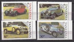 D0258 - TANZANIA Yv N°267/70 ** VOITURES - Tanzania (1964-...)
