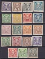 ## Austria 1920 Mi. 293-311 Zeitungsmarken Merkurkopf Incl. ERROR Variety 295 X I Complete Set MH* - 1918-1945 1. Republik