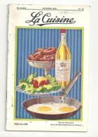 La Cuisine N°51 D´octobre 1931 Revue Mensuelle De La Parfaite Maîtresse De Maison Anvers - Gastronomie