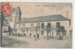 MOUSSY - La Mairie  L'Eglise (animée ) - Autres Communes