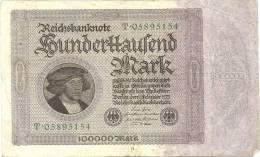 BANKNOTE - 100000 MARK 1-02-1923 - VF - [ 3] 1918-1933 : Weimar Republic