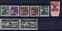 1945 FIUME RIJEKA OCCUPAZ. JUGOSLAVA S.2 14/20 MNH** - Occ. Yougoslave: Fiume