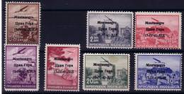 1941 FRANCOBOLLI DI P.A. DI JUGOSLAVIA SOPRASTAMP. MLH*/ MNH** G. BOLAFFI - Occ. Allemande: Montenegro
