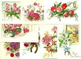 Lot De 100 Cpa Et Cpsm Format Cpa Sur Les Fleurs , Jetées Et Bouquets De Fleurs. - 100 - 499 Postales