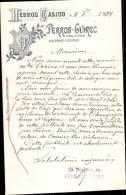 HEDROU CASINO, CASINO A PERROS GUIREC_   CORRESPONDANCE DATEE 1899 - Frankreich