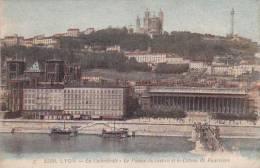 France Lyon La Cathedrale Le Palais de Justice et le Coteau de F