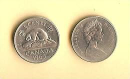 CANADA 1965-1978 Km60.1 5 Cents QE II - Canada