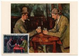 Aix En Provence Paul Cézanne Joueurs De Cartes Carte Maximum  1961 état Superbe - Aix En Provence