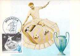 MONACO CARTE MAXIMUM  NUM.YVERT  1275 SPORT FOOTBALL - Cartas Máxima