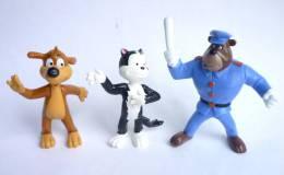3 FIGURINES PIF YOLANDA 1991 - PIF HERCULE AGENT DE POLICE