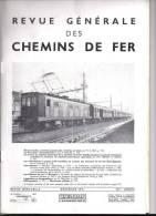 """Revue Générale Des Chemins De Fer  12/1951  -  FERRY  BOAT  """"  St  GERMAIN  """"  Avec Dépliant Et Légende  - - Trains"""
