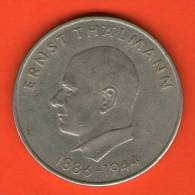 **  20 Mark 1971  **   KM34 - ( Aniv. Ernst Thälmann )  - RDA GDR DDR - Alemania Deutschland Germany Allemagne - Otros