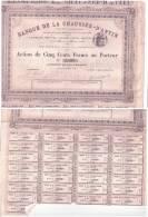 Action Banque De La Chaussée D'ANTIN 26 04 1880   N =3109 - Other