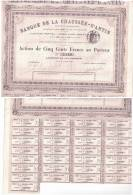 Action Banque De La Chaussée D´ANTIN 26 04 1880   N =3110 - Other