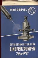 Brochure Motorpal - Betriebsanleitung Fur Einspritzpumpen - Livres, BD, Revues