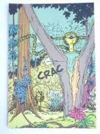 CARTE Postale SPIROU N°42 - SUPPLEMENT AU JOURNAL 1986 COUVERTURE DU RECUEIL 60 FRANQUIN - MARSUPILAMI - Tarjetas Postales