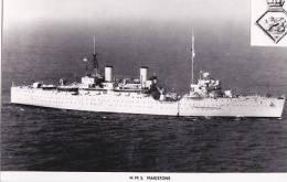 SHIPPING - H.M.S. MAIDSTONE.  PLAIN BACK - Warships