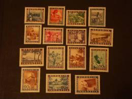 REPUBLIK INDONESIA Indonesie 1949 15 Valeurs MNH ** Vienna Print - Indonésie