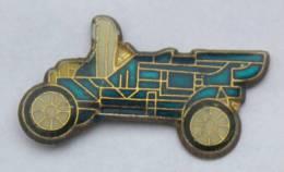 Pin's VOITURE ANCIENNE BLEUE MARINE - Décapotable - Tacot - B1184 - Badges