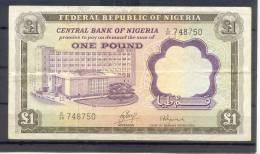 Nigeria 1 Pound  VF+ - Billets